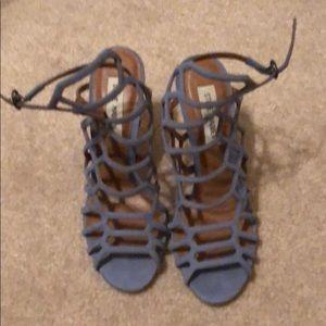 Steve Madden Light Blue Slithur Heel - Gently Used